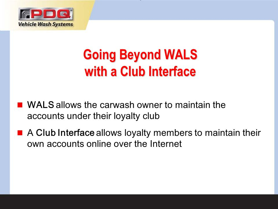 Going Beyond WALS with a Club Interface