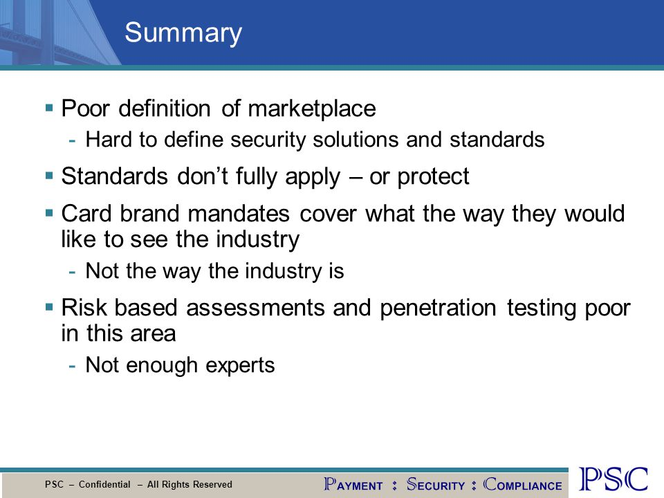 Summary Poor definition of marketplace