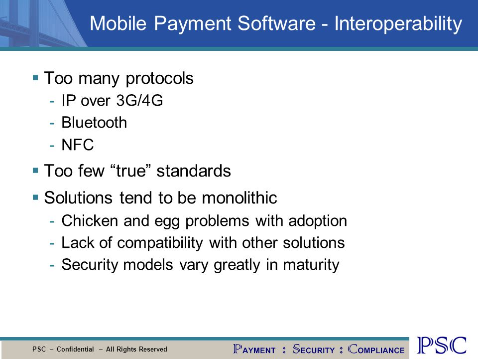 Mobile Payment Software - Interoperability