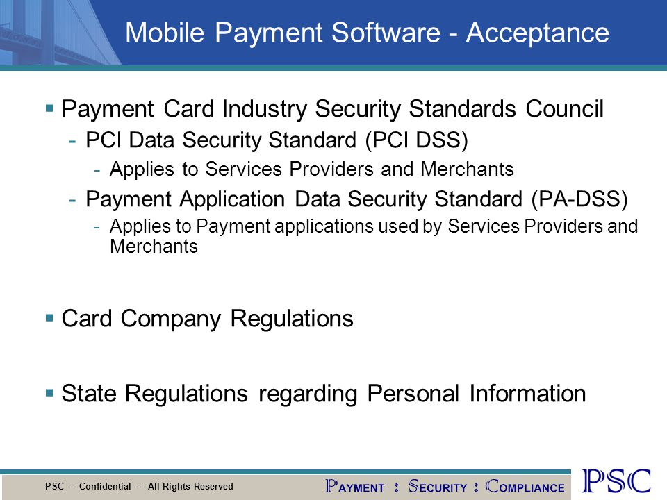 Mobile Payment Software - Acceptance