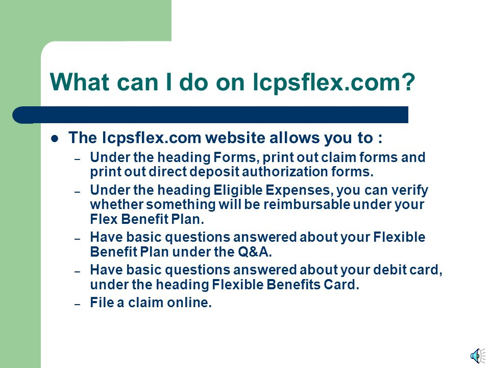 What can I do on lcpsflex.com
