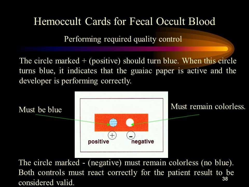 - Hemoccult Cards for Fecal Occult Blood