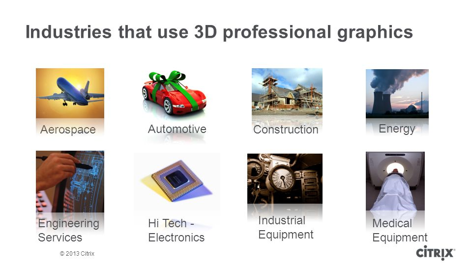 Industries that use 3D professional graphics