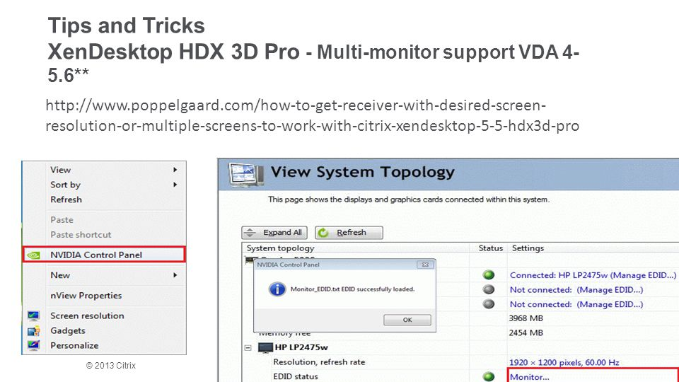 Tips and Tricks XenDesktop HDX 3D Pro - Multi-monitor support VDA 4-5