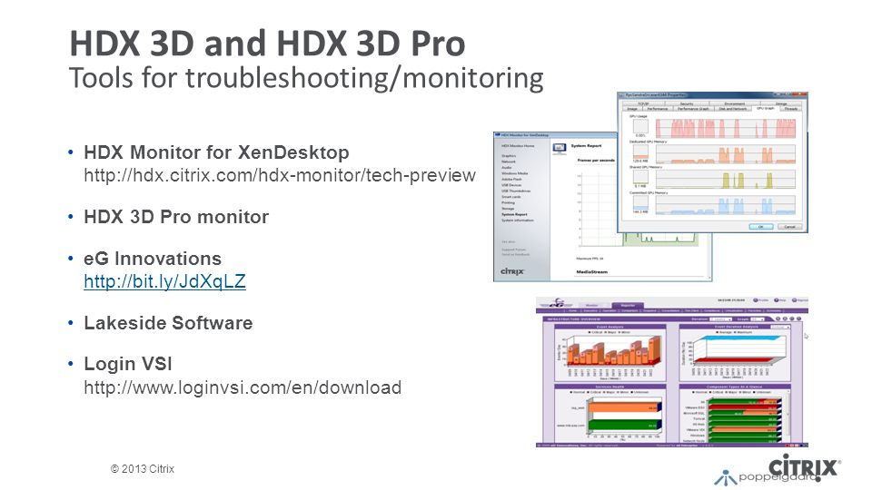 HDX 3D and HDX 3D Pro Tools for troubleshooting/monitoring