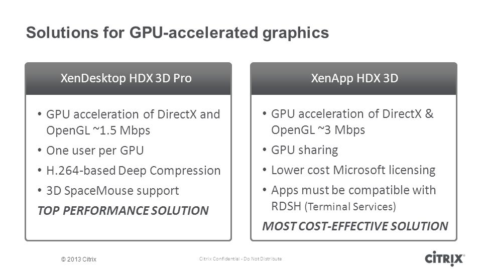 Solutions for GPU-accelerated graphics