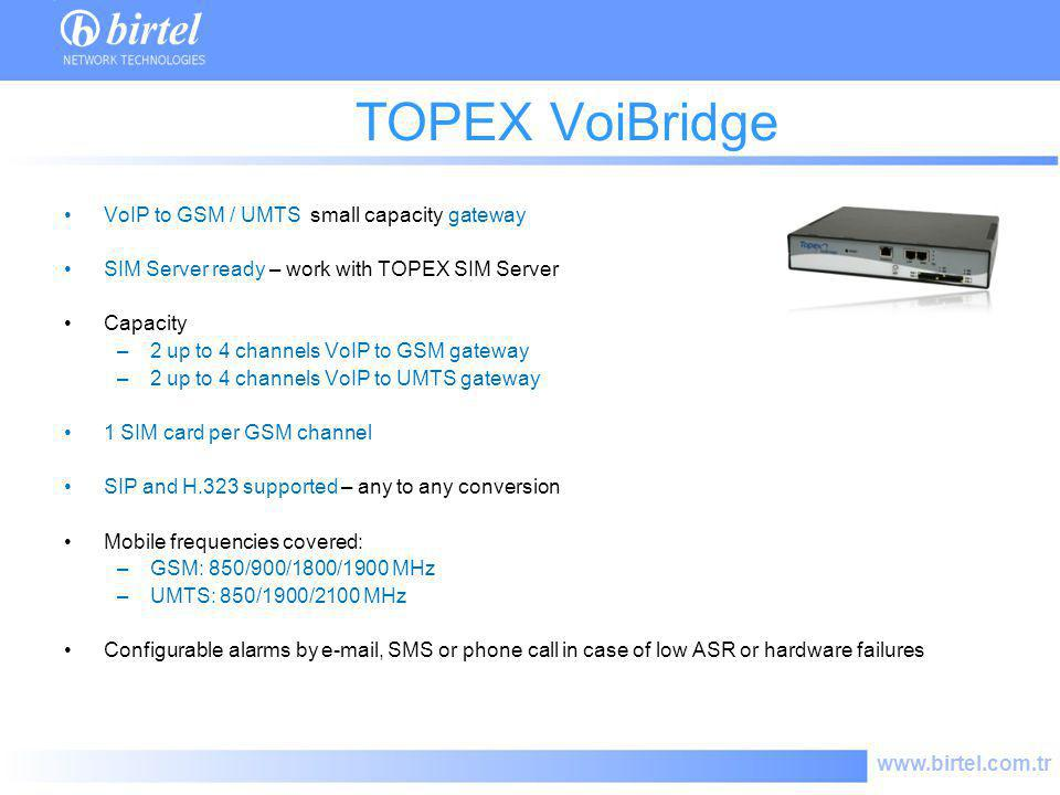 TOPEX VoiBridge VoIP to GSM / UMTS small capacity gateway
