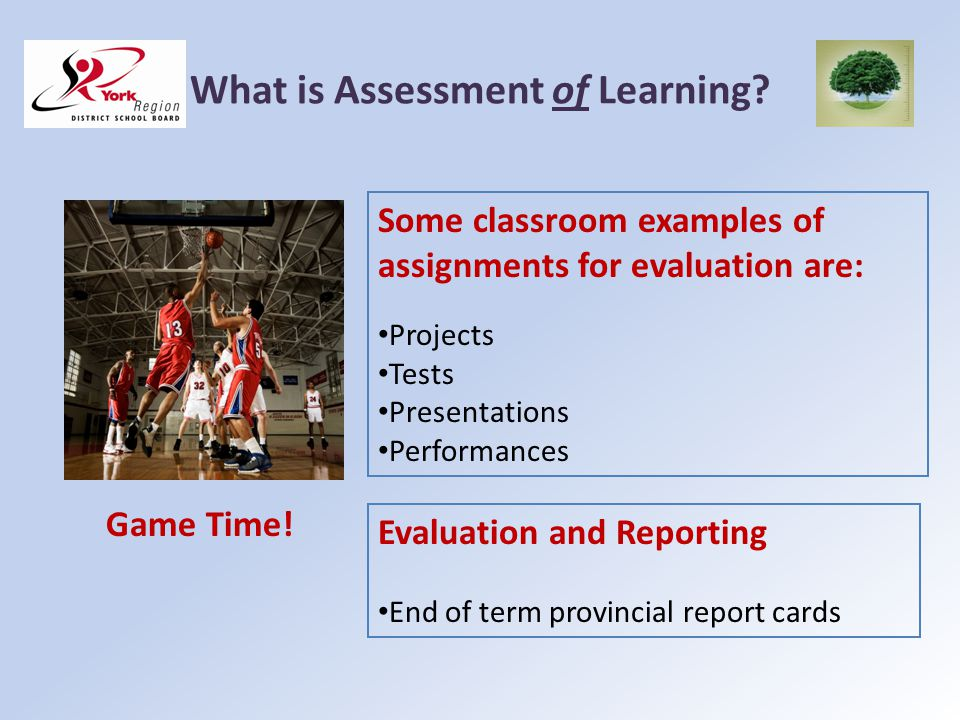 What is Assessment of Learning