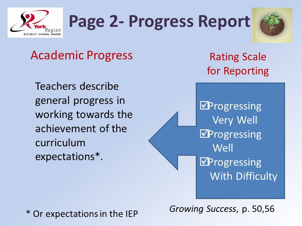 Page 2- Progress Report Academic Progress Rating Scale for Reporting