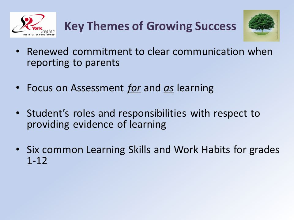 Key Themes of Growing Success