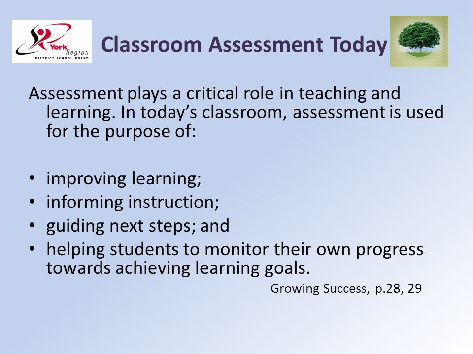 Classroom Assessment Today