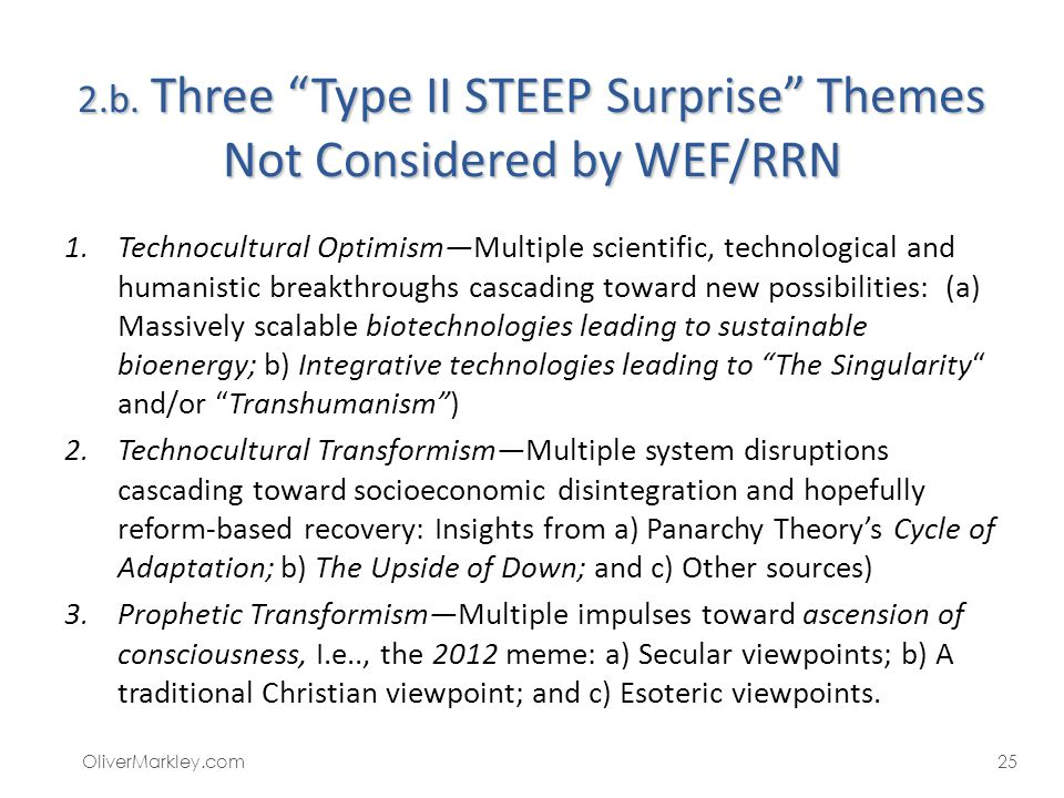 2.b. Three Type II STEEP Surprise Themes Not Considered by WEF/RRN