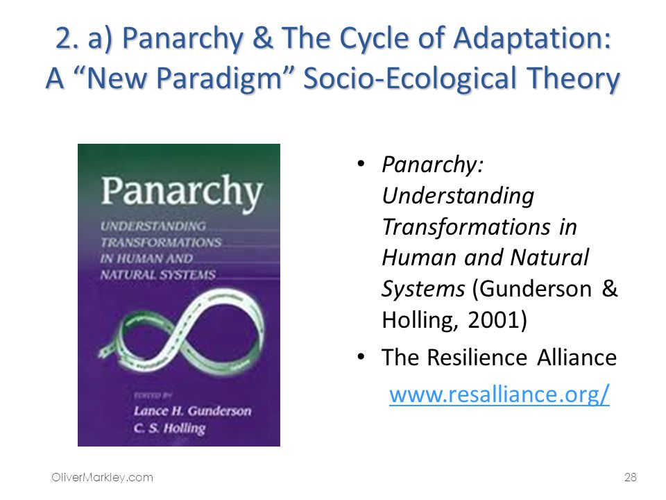2. a) Panarchy & The Cycle of Adaptation: A New Paradigm Socio-Ecological Theory