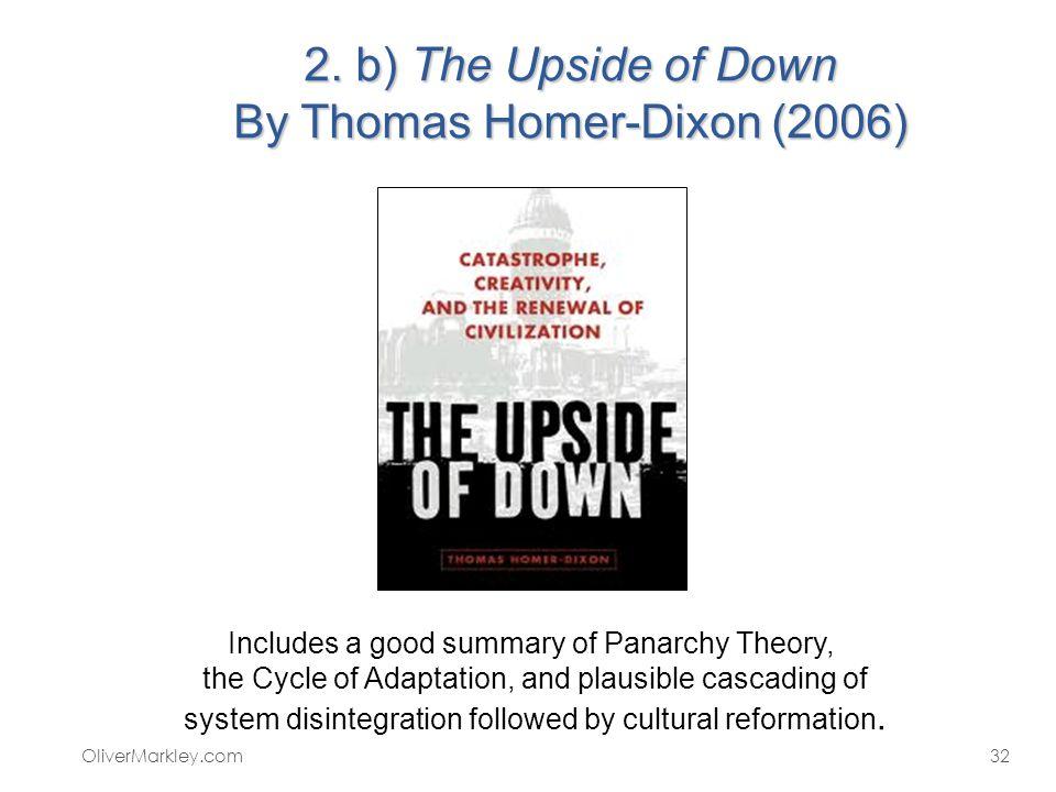 2. b) The Upside of Down By Thomas Homer-Dixon (2006)