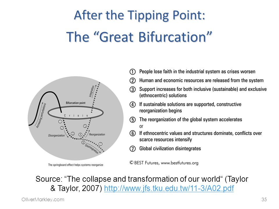 After the Tipping Point: The Great Bifurcation
