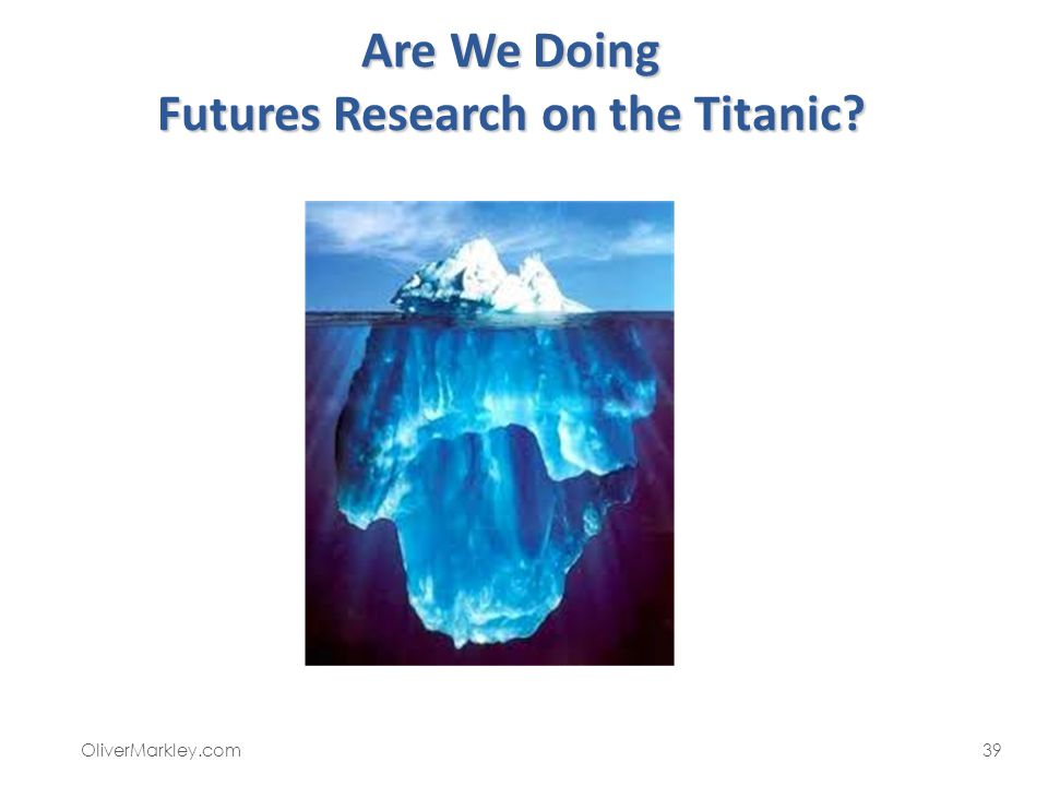 Are We Doing Futures Research on the Titanic