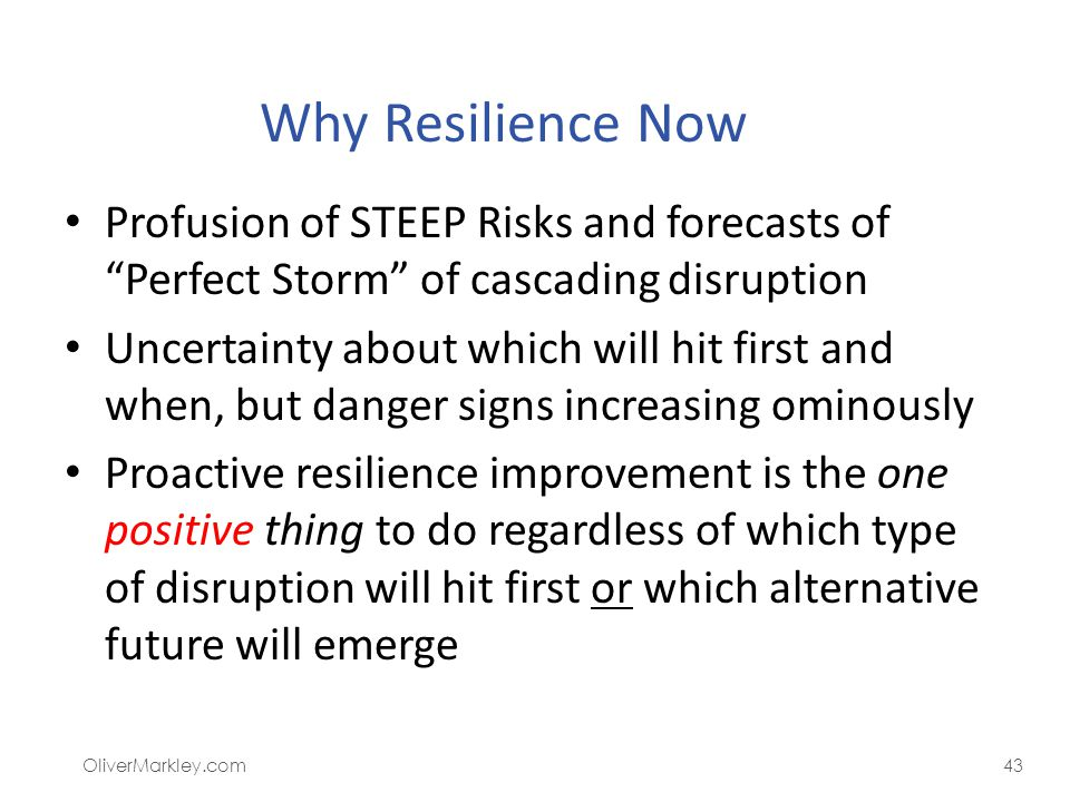 Summary: Why Resilience Is Now a Critical Need