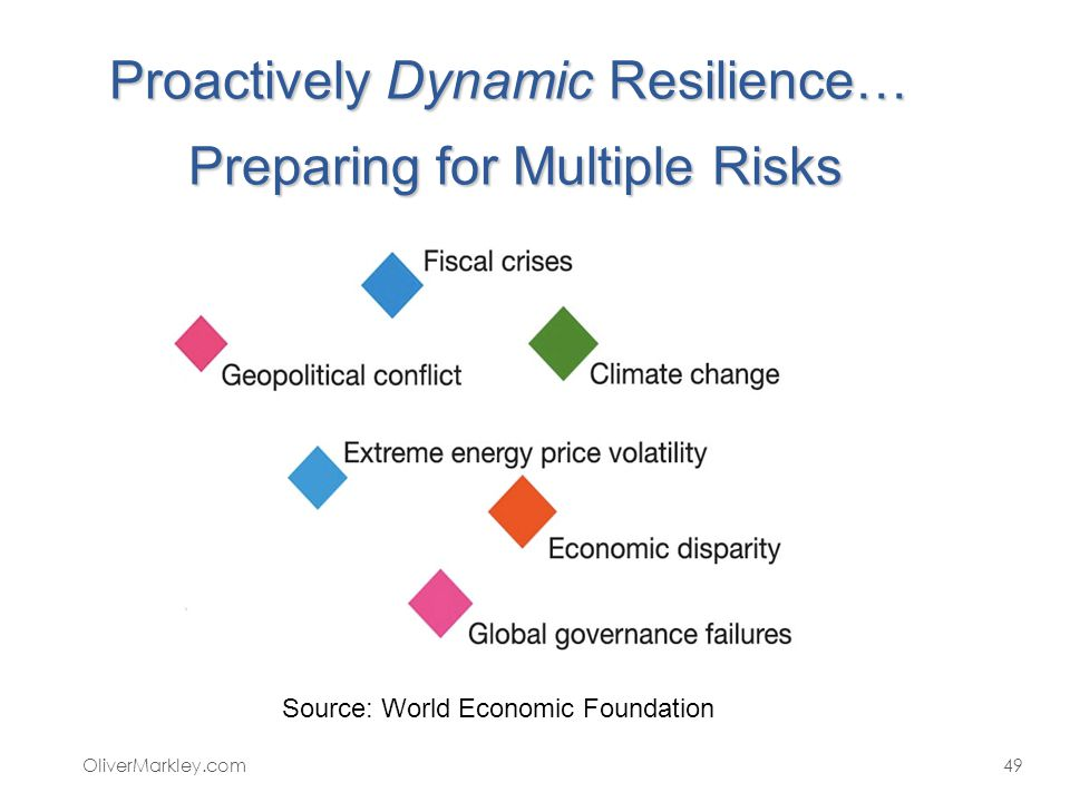Proactively Dynamic Resilience… Preparing for Multiple Risks