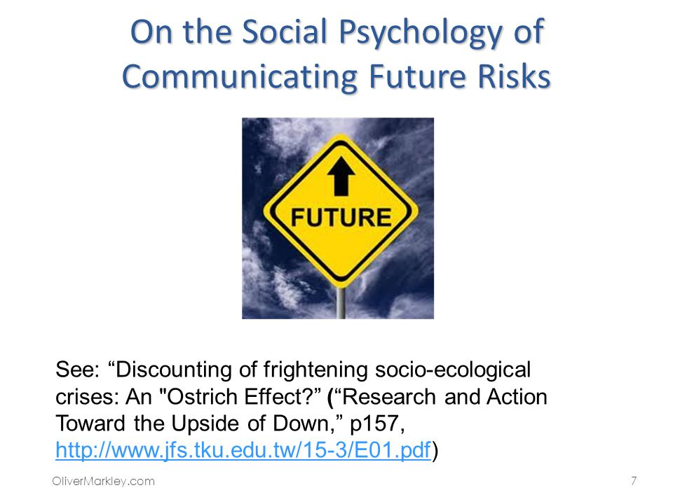 On the Social Psychology of Communicating Future Risks