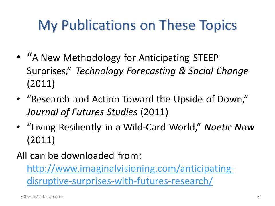 My Publications on These Topics