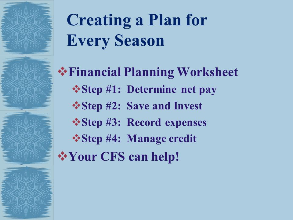 Creating a Plan for Every Season
