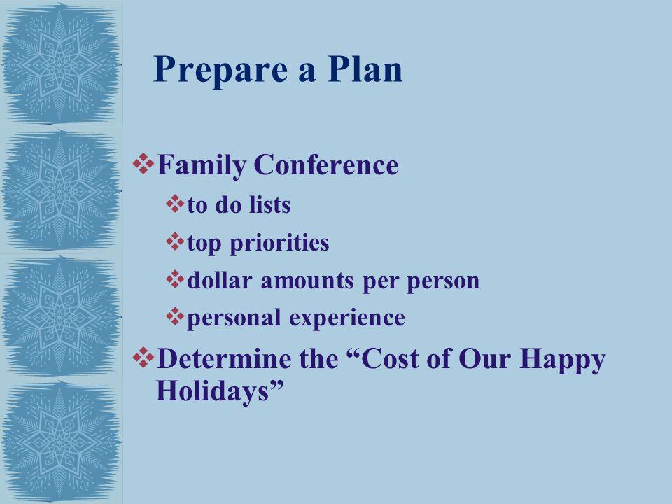 Prepare a Plan Family Conference