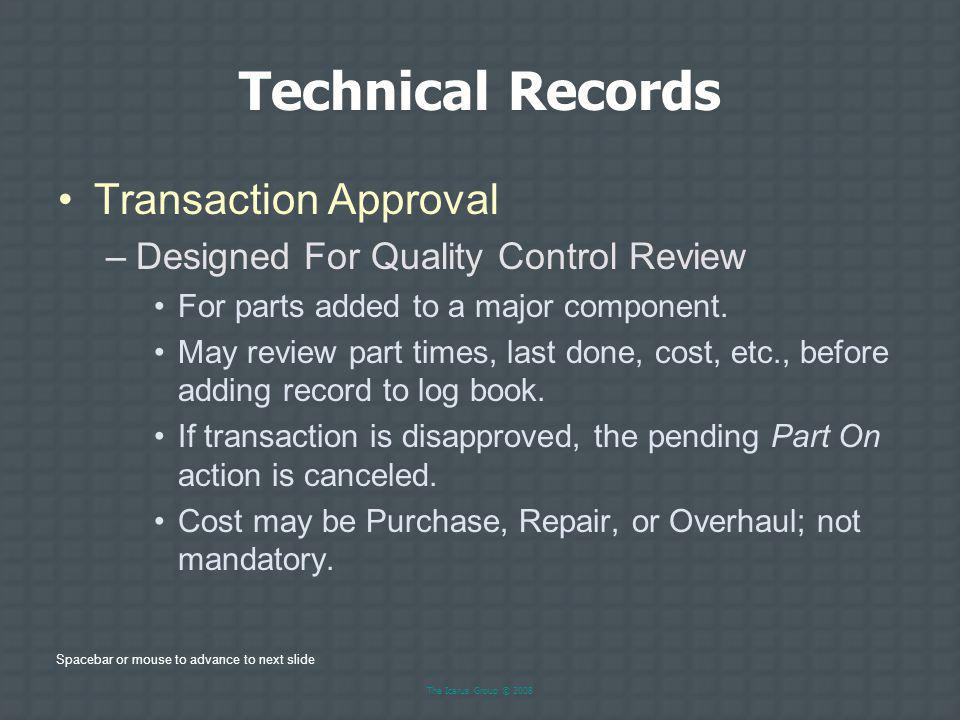 Technical Records Transaction Approval