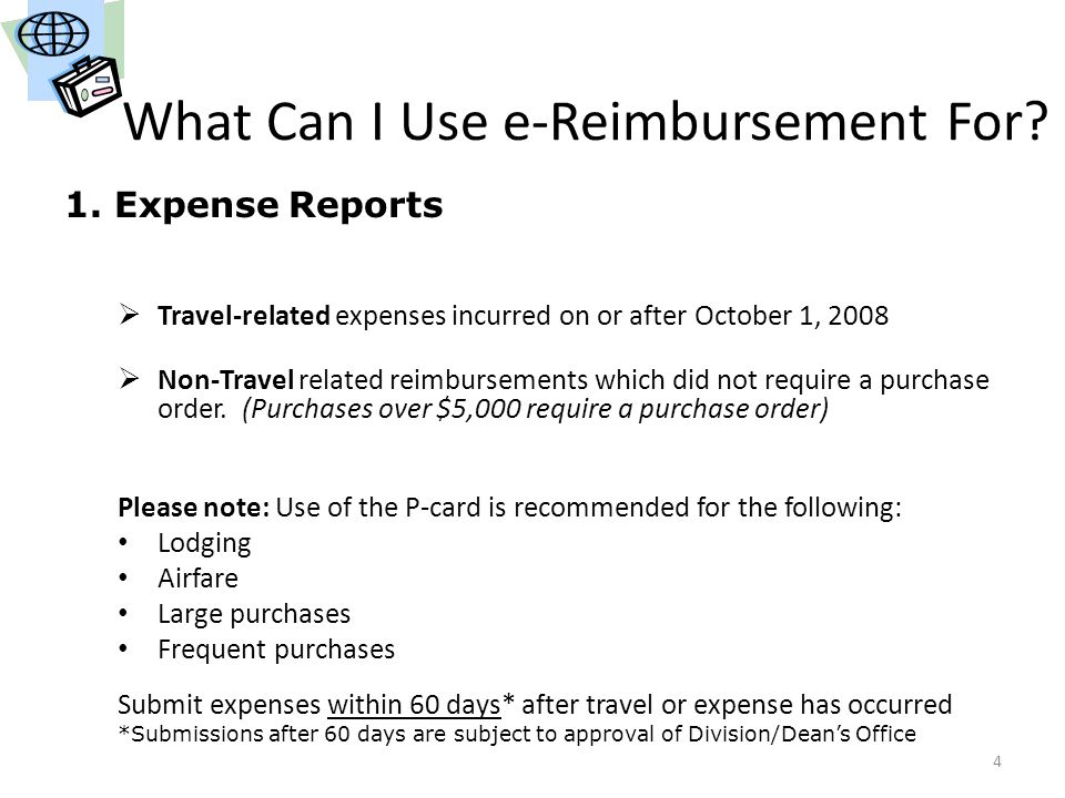 What Can I Use e-Reimbursement For