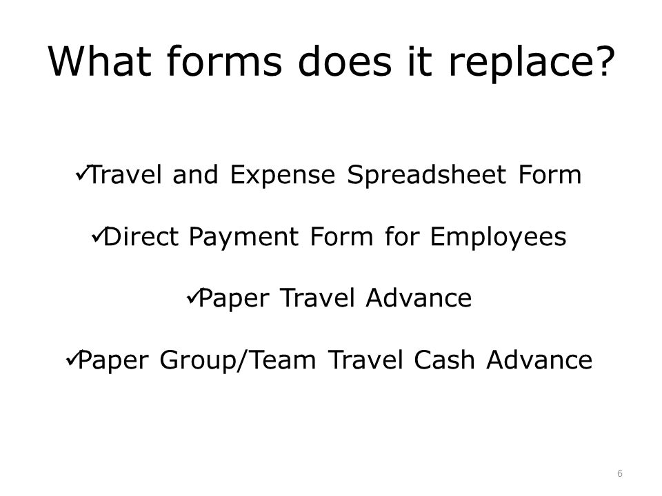 What forms does it replace