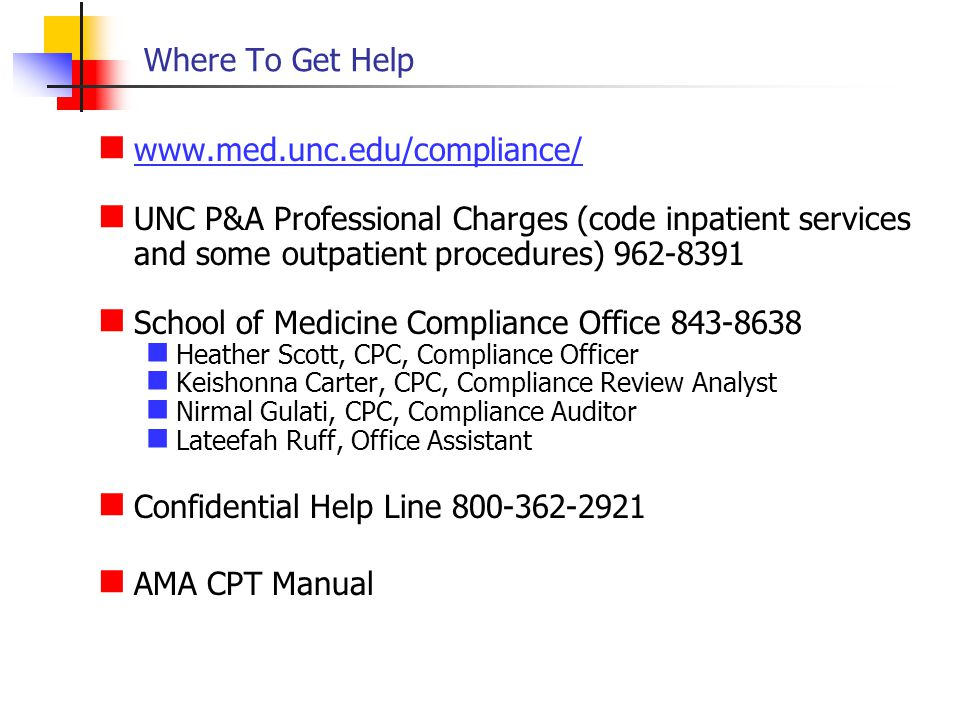 School of Medicine Compliance Office 843-8638