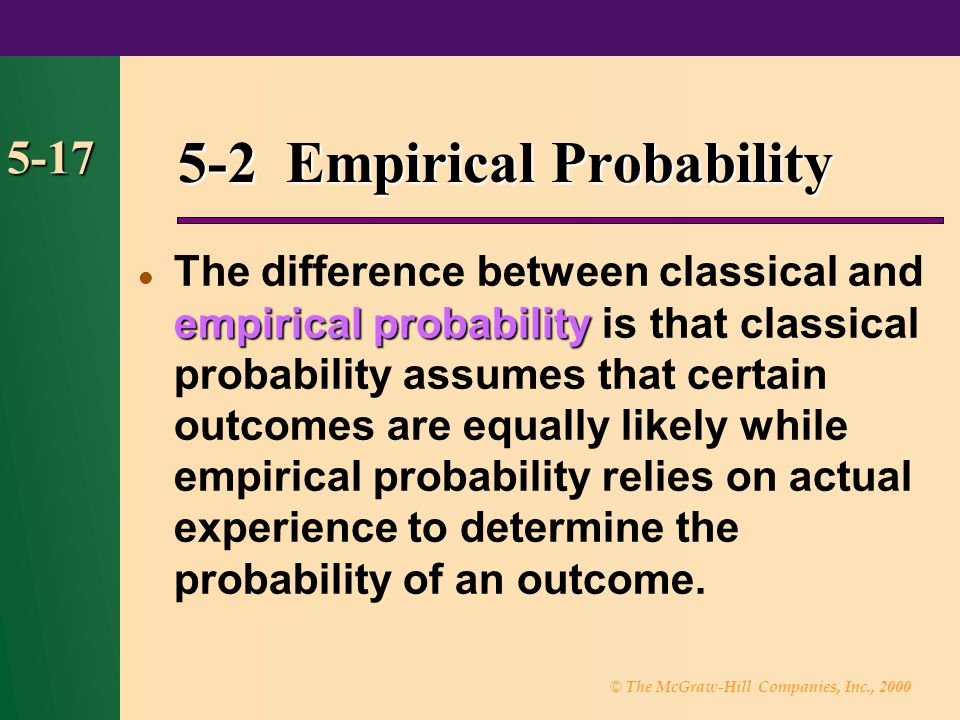 5-2 Empirical Probability