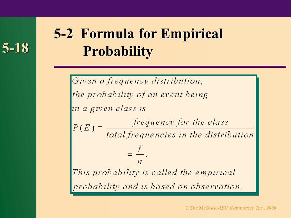 5-2 Formula for Empirical Probability
