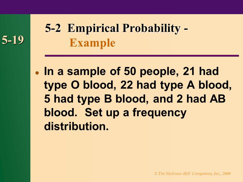 5-2 Empirical Probability - Example
