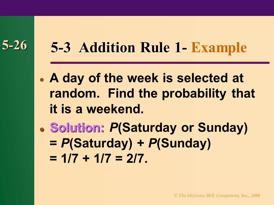 5-3 Addition Rule 1- Example