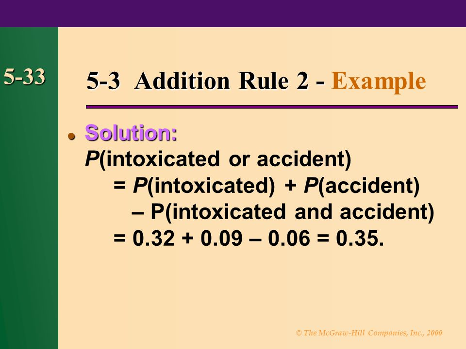 5-3 Addition Rule 2 - Example