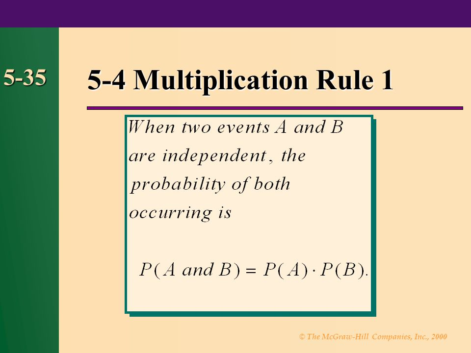 5-4 Multiplication Rule 1 5-35 37