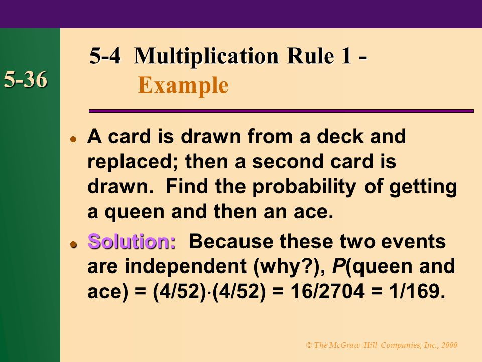 5-4 Multiplication Rule 1 - Example