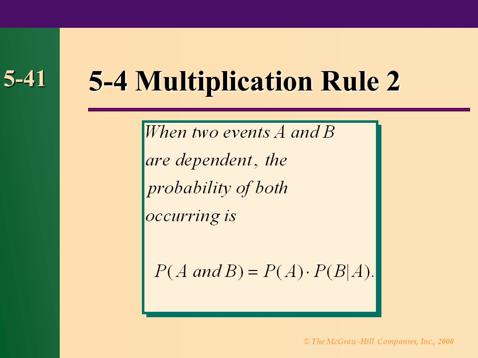 5-4 Multiplication Rule 2 5-41 43