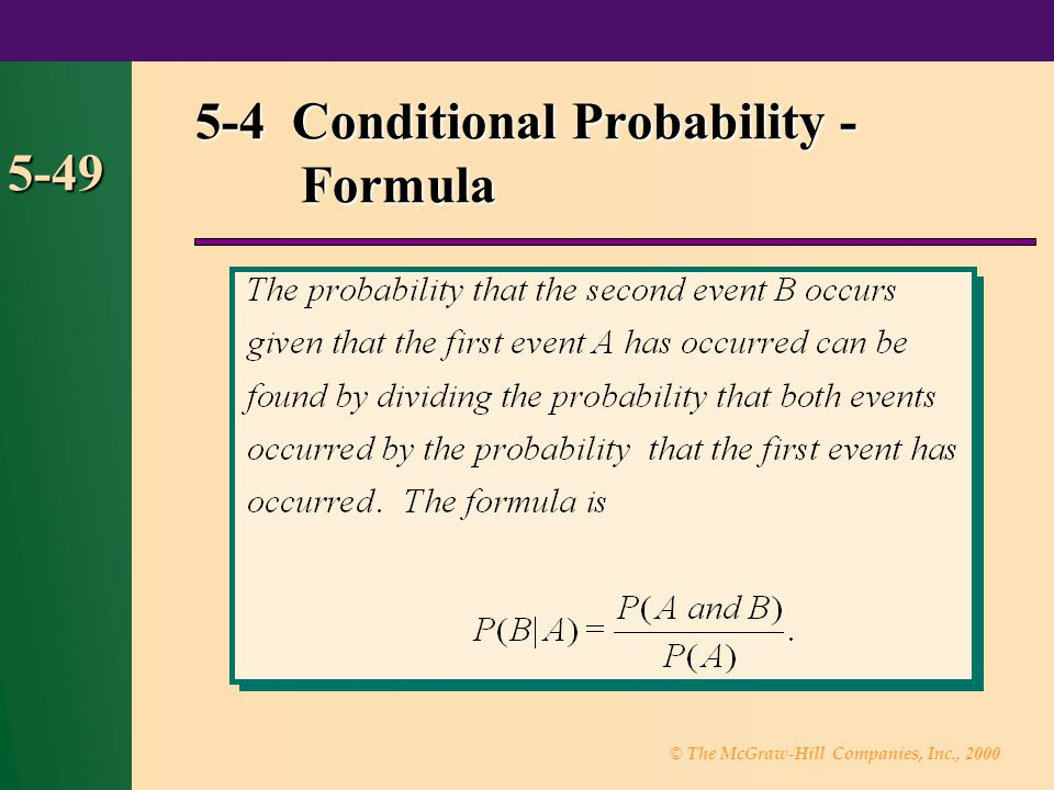 5-4 Conditional Probability - Formula