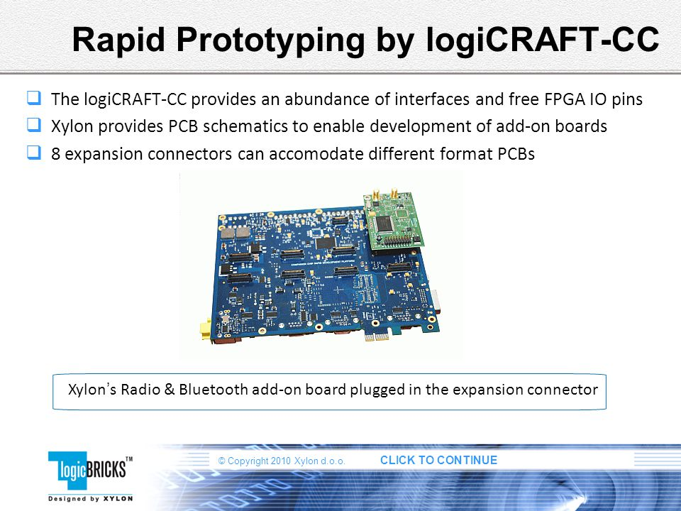 Rapid Prototyping by logiCRAFT-CC