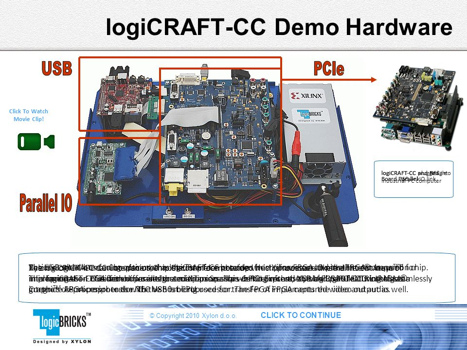 logiCRAFT-CC Demo Hardware