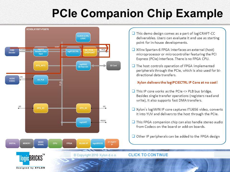 PCIe Companion Chip Example