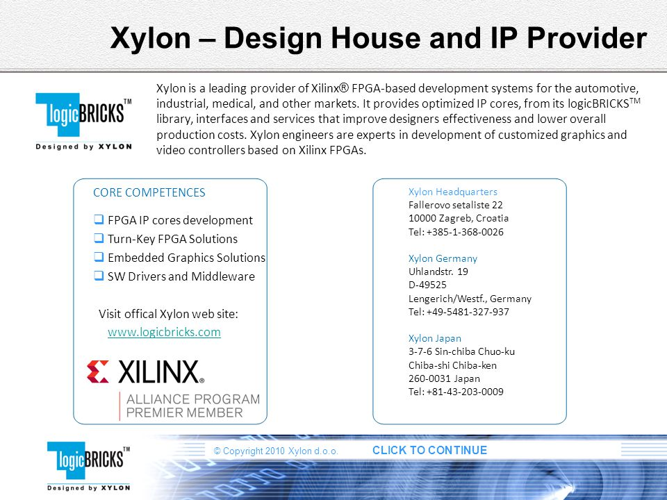 Xylon – Design House and IP Provider