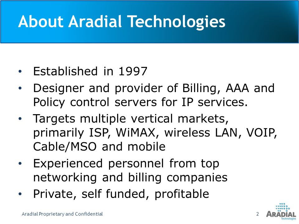 About Aradial Technologies