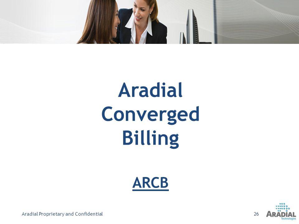 Aradial Converged Billing