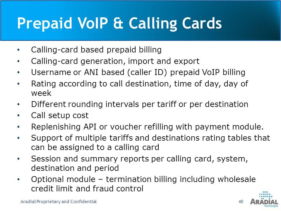Prepaid VoIP & Calling Cards