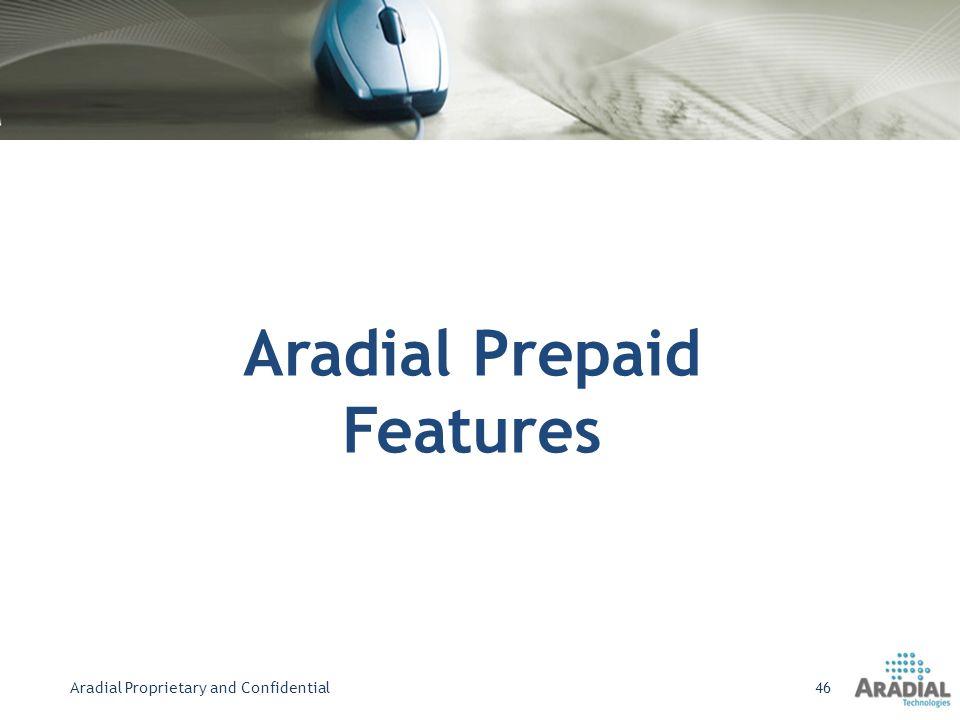 Aradial Prepaid Features