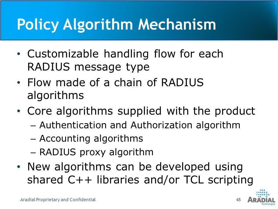 Policy Algorithm Mechanism