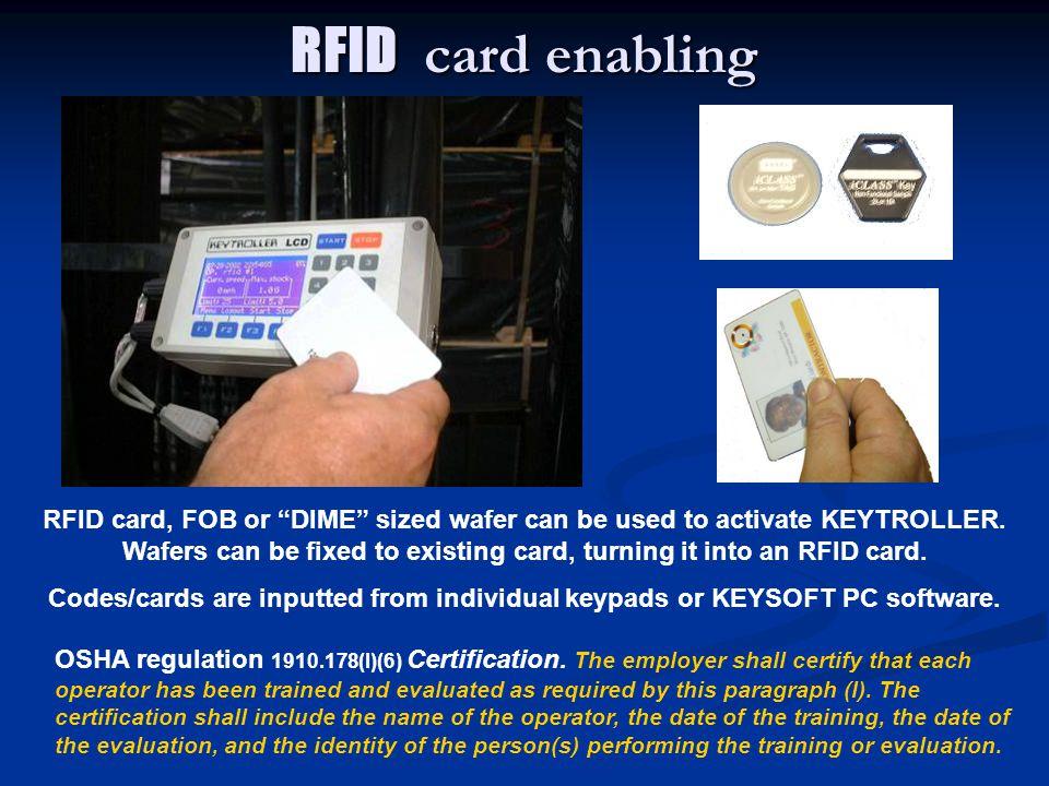 RFID card enabling