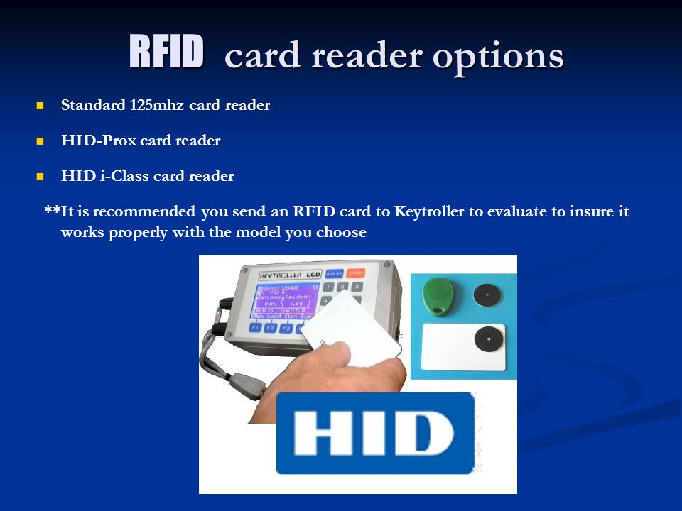 RFID card reader options